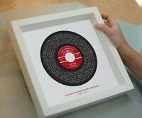 "Kodaline ""The One"" Song Lyrics Custom Personalised Print Vinyl Record Label Gift"