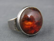schöner alter Ring 925/-Silber mit Bernstein Dänemark N.E. From