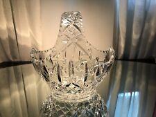 AMERICAN BRILLIANT CUT GLASS FRUIT BASKET CENTERPIECE BOWL STAR DESIGN 1950's