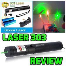 Laser Verde 303 1mw 532nm Puntatore Penna Regolabile + Star Luce Cap +2 Batteria