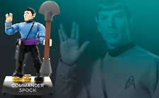 Star Trek COMMANDER SPOCK Mega Construx Heroes MiniFigure Series 2 FND70