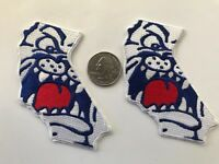 "(2) Fresno State Bulldogs vintage embroidered iron-on patch lot 3"" X 2"""