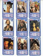 "LOT DE 9 CARTES DISNEY AUCHAN  ""PIRATES"""