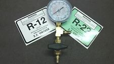R22, R12, R502 Commercial Refrigeration Test Gauge WITH ON/OFF ISOLATION VALVE
