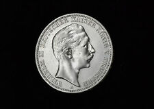 3 Mark Preussen Wilhelm II 1909 A Silber Kaiserreich