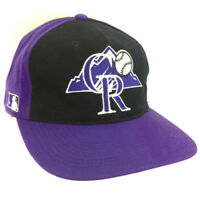 Vtg Colorado Rockies Hat Sports Specialties Cap Snapback All Over Logo Baseball