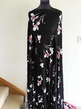 Botanico ispirato Illustrata Floreale/fiore tessuto stretch Jersey sartoriale