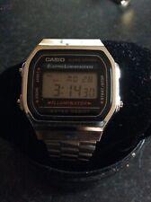 Men's, Ladies Casio Digital Retro Chrono Watch with SilverTone Adjustable Strap.