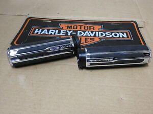 "Chrome CNC Cut 1/"" 25mm Skull Handlebar Grip For Harley Touring Sporster Dyna CVO"