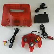 Nintendo 64 Watermelon Red Console + Controller NTSC-J JP Japan - Good Condition