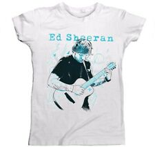 Ed Sheeran Guitar Line Illustration Ladies White Size Small T-Shirt New