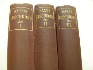 LEECHDOMS, WORTCUNNING & STARCRAFT OF EARLY ENGLAND 3 vols 1864-66 Cockayne 11N