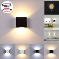 Modern COB LED Wall Light Up Down Cube Indoor Outdoor Sconce Lighting Lamp 6/12W