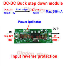 DC-DC Buck Step-down Converter Voltage Regulator 6.5V-12V 9V to 5V Fixed Output