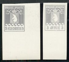 GREENLAND 3ore & 5kr PAKKE PORTO Blackprints, Imperforate CINDERELLAS,