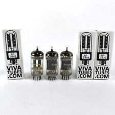 Date Matched Trio (3) Amperex Holland ECC83/12AX7 Foil Strip D Getter Tubes 75%