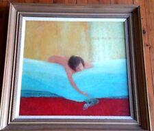 Australian School Abstract oil  painting  ;Livio Suciu  1985