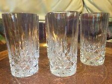 Highball Glass Tumblers Tall Drinking glass x 5 RCR ? Bohemian style ?