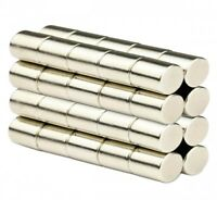 50 Pcs of 5mm x 10mm Rare Earth Magnets Cylinder Rods N35 Super Strong Neodymium