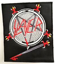 SLAYER ( PENTAGRAM ) EMBROIDERED  PATCH