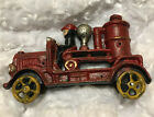 Vintage Cast Iron Pumper Car Fire Truck  Great Paint Great Patina Great Gift FF
