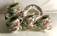 8 Johnson Brothers Friendly Village Cups And Saucers