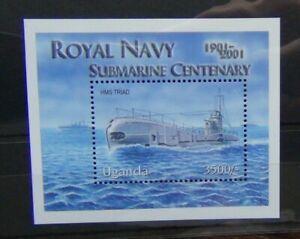 Uganda 2001 Centenary of Royal Navy Submarine Service Miniature Sheet MM
