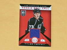 2013-14 Totally Certified Rookie Roll Call Jersey Hockey Card # RR-TT Toffoli