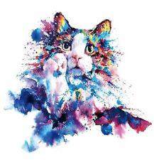 b0ad718db Rainbow CAT Temporary Tattoo A5 Body Art Adult Tattoos Cats Kitty Transfers  🌈🐾