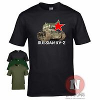 Russian KV 2 tank WW2 military armour T-shirt World of war Tanks eastern front