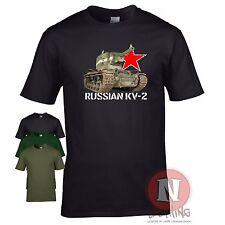 Russe KV 2 tank WW2 militaire armure T-shirt Monde of war Tanks est front