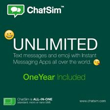 ChatSim Unlimited - Global Sim card to chat with WhatsApp, Telegram and others