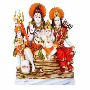 "New Lord God Shiv Parvati Ganesha Shiv Parivar Idol Statue Figurine Gift 11"""