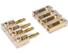 Soundboard Kabel Verbinder Stecker Kopplung Klemmen 4-polig vergoldet