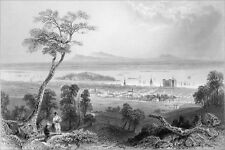 CANADA (QUÉBEC) - MONTRÉAL vue de la MONTAGNE - Gravure du 19e siècle
