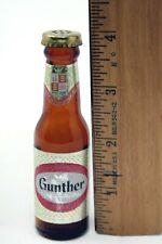 Miniature Gunther Beer Bottle w/ Paper Label & Shaker Cap Muth Buffalo FREE SHIP