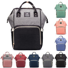 Large Mummy Mom Maternity Nappy Diaper Bag Capacity Baby Travel Backpack Handbag