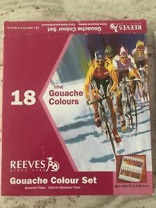 WATERCOLOR Reeves 18-Pack Gouache Color Tube Set, 12ml.