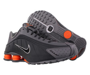 Nike Shox R4 Unisex Shoes Size 14, Color: Anthracite/Total Orange/Grey