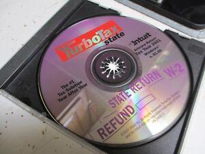 Quicken TurboTax AZ ARIZONA STATE 2001 CD for Windows Intuit Turbo Tax