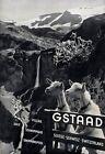 "Vintage Illustrated Travel Poster CANVAS PRINT Switzerland goats Alps 8""X 10"""