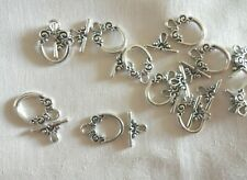10 Antique Silver Toggle Clasps 20mm x 14mm Bar 15mm #0314 Jewellery Making