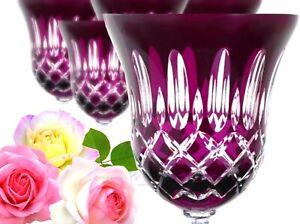 Lead Glass Wine Roman 6 Pieces (421car L), Purple Crystal Lens