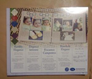 Creative Memories Scrapbook Earthly Elegance mounting paper NIP 6 color 12 sheet