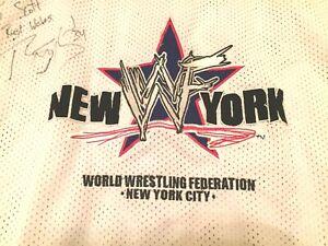 WWF New York Hockey Jersey 2XL autographed Rey Mysterio Jr. NYC WWE signed XXL