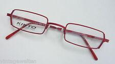KINTO Brille knallrot unisex Metall eckig Markenbrille schmale Form NEU size S