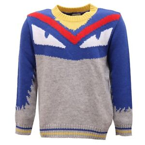 2410V maglione bimbo FENDI wool/cashmere multicolor sweater kid