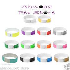 14 Different Colours TYVEK Puppy Kitten Newborn Welping ID Bands Whelping Collar