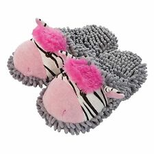 Aroma Home Fuzzy Feet Friends Zebra Novelty Slippers Mules One Size UK 3-7