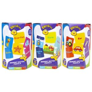 CBeebies Educational Memory Match Puzzle Card Game Children Kids Fun Learning